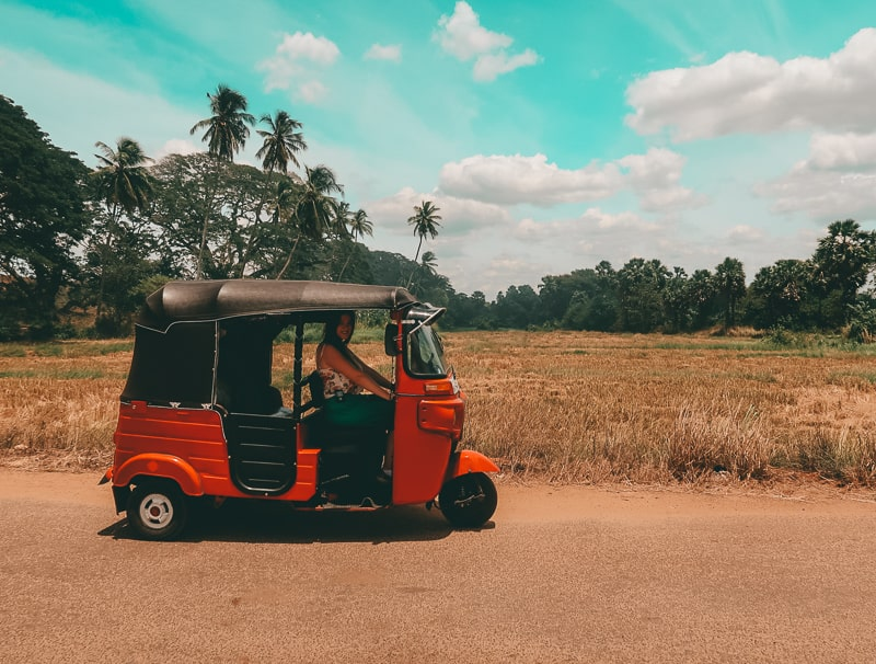 our tuk tuk with a view in sri lanka