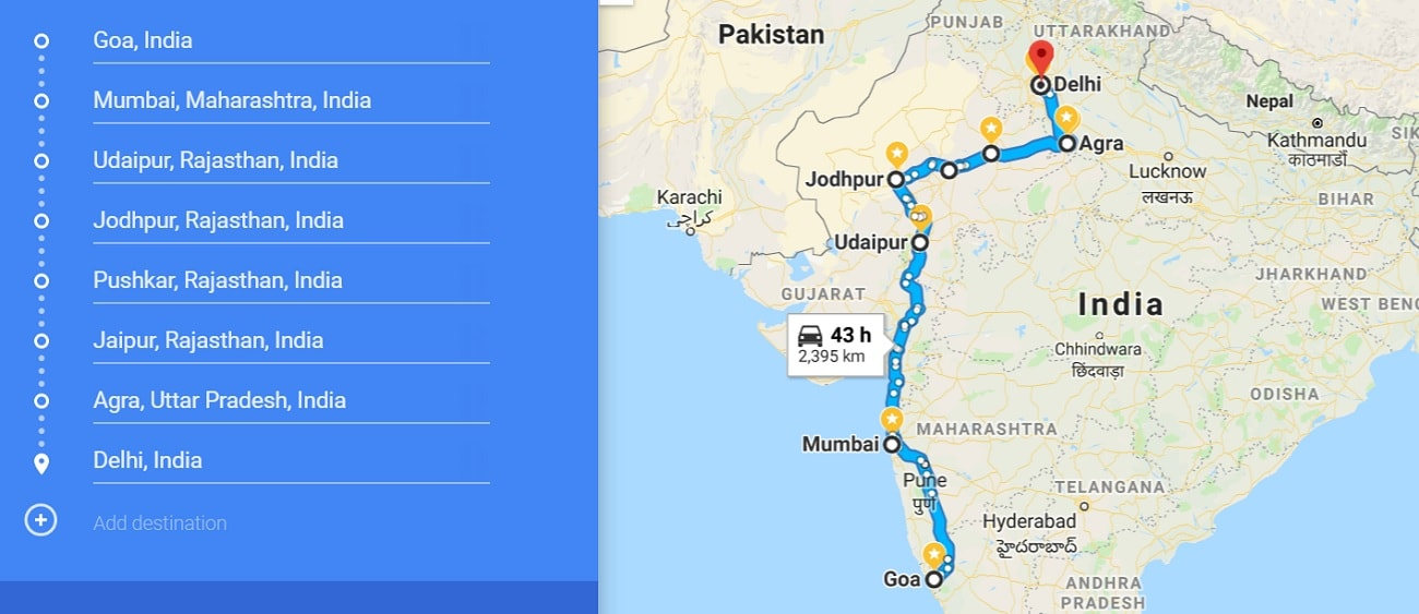 our 3 week India itinerary