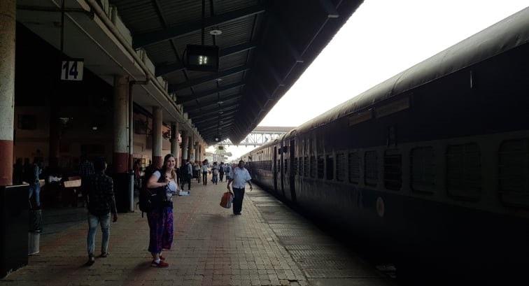 train ride through india