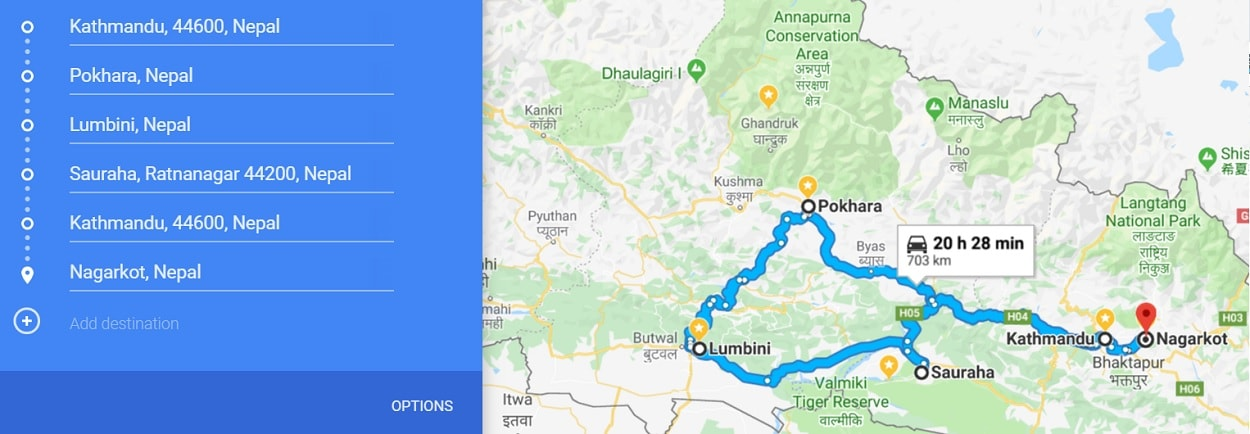our 3 week Nepal itinerary