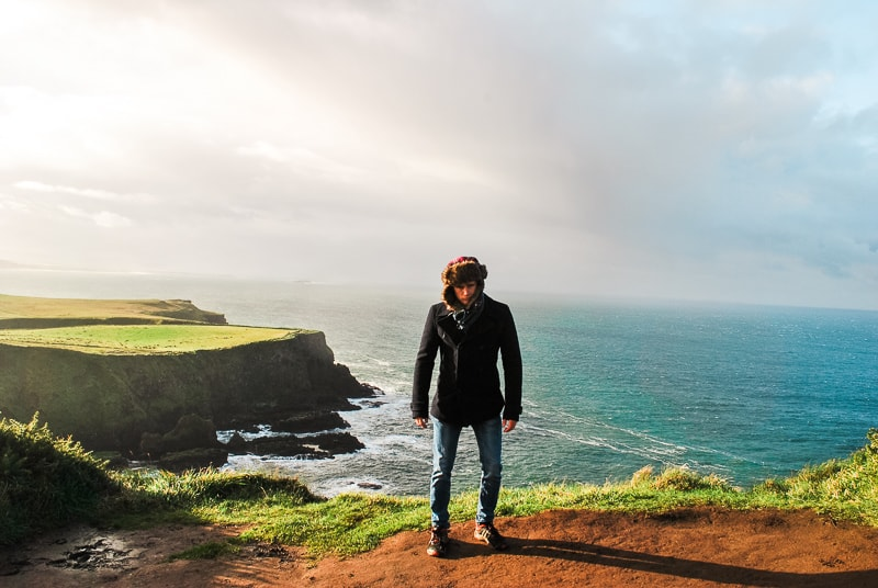 Brad at Giants Causeway