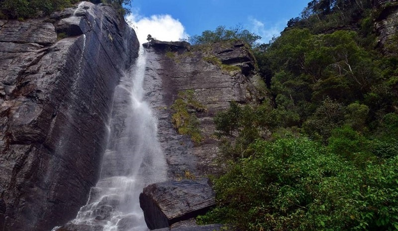 Lovers Leap Waterfall in Nuwara Eliya