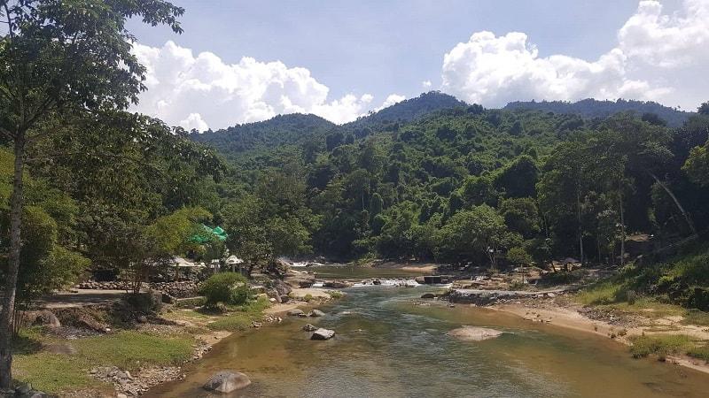 Yang Bay Falls Park in Vietnam