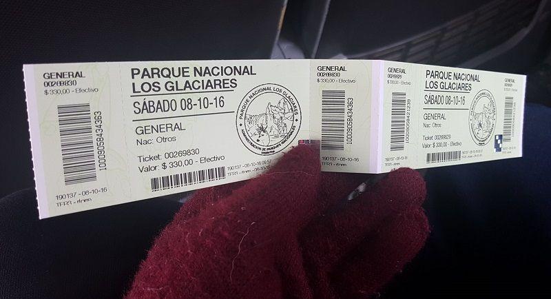 Los glaciares national park entrance ticket