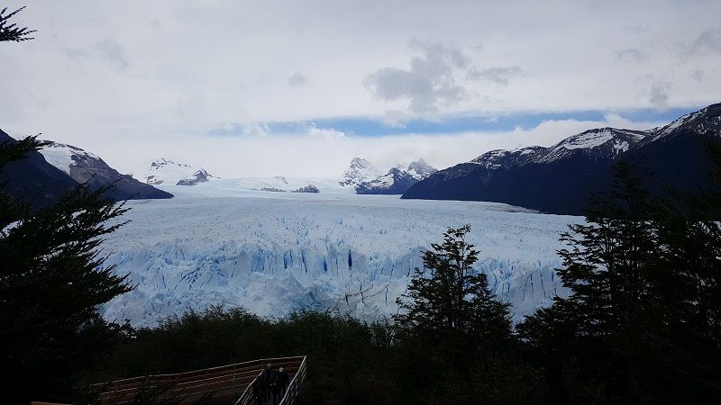 Perito Moreno glacier from walkway