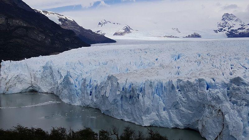 Close up view of Perito Moreno glacier