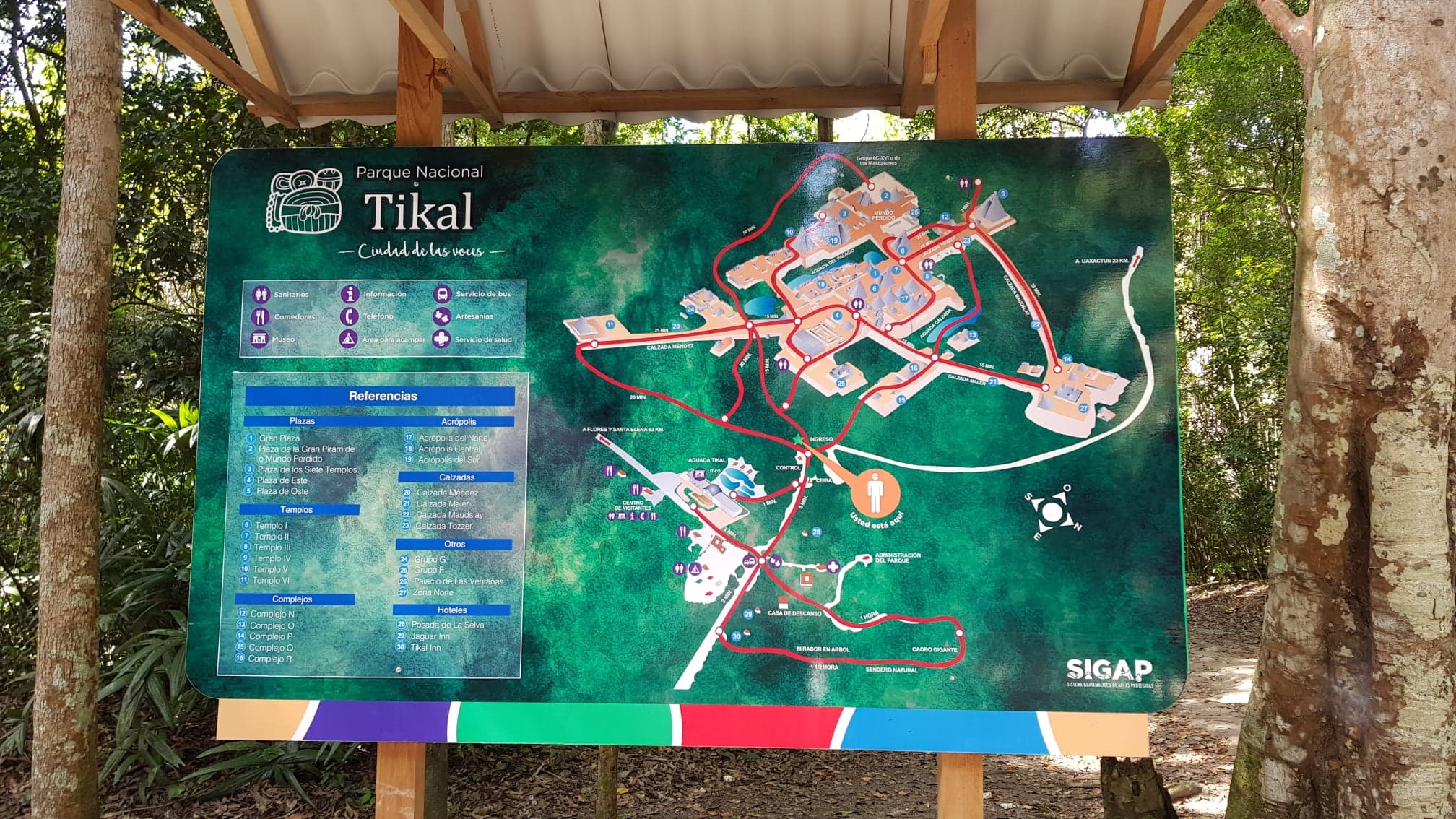 map of tikal national park
