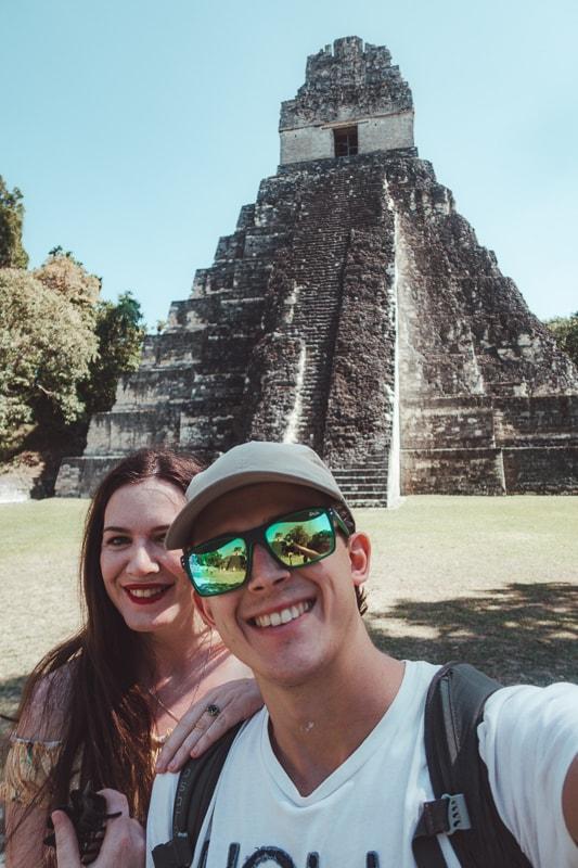 selfie at mayan temples