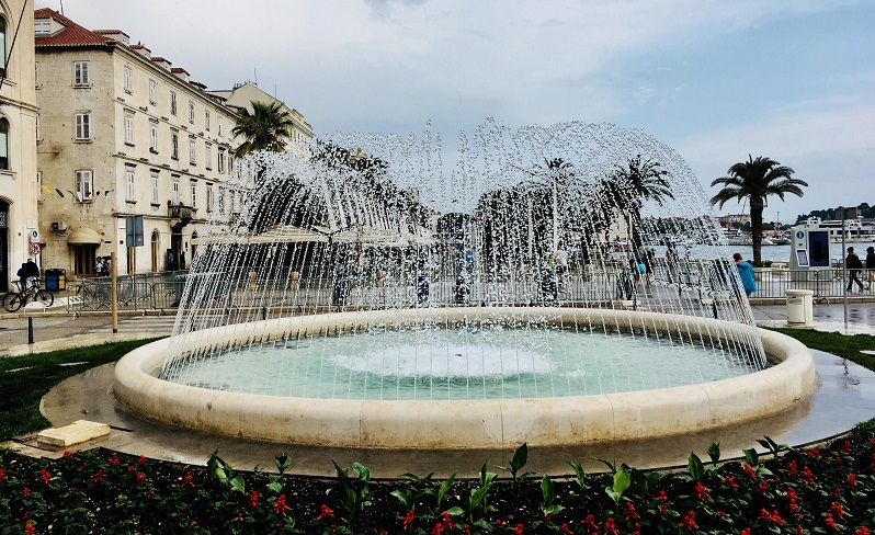 fountain in split