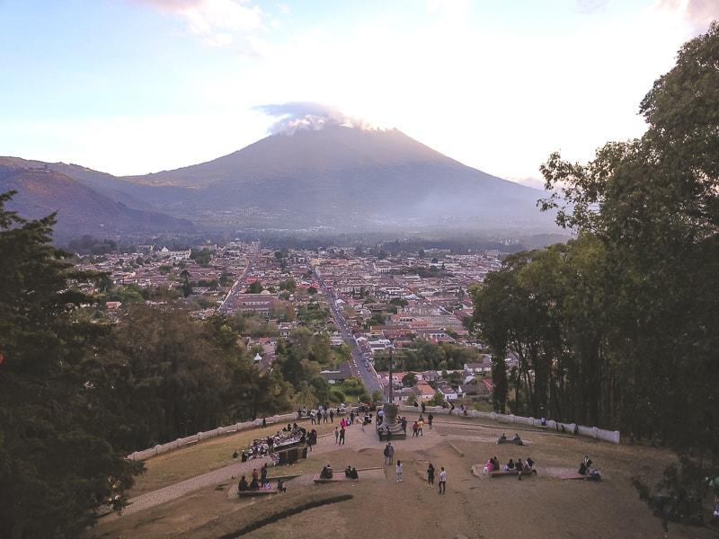 view of fuego volcano
