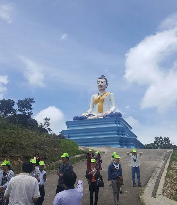 Buddha statue Bokor mountain in Kampot