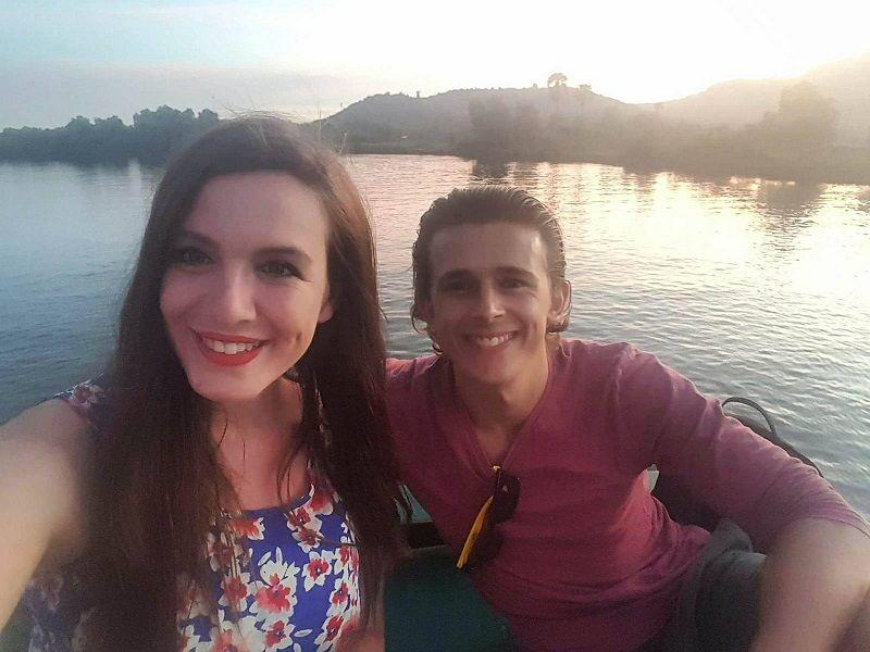 selfie Kampot river boat cruise