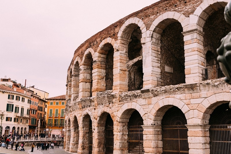 visiting Verona arena
