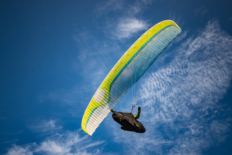 paraglide over lake atitlan