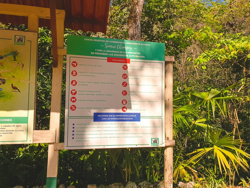 Semuc champey entrance rules