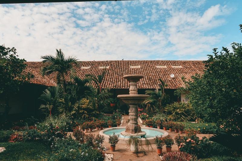 gardens in hotel adela