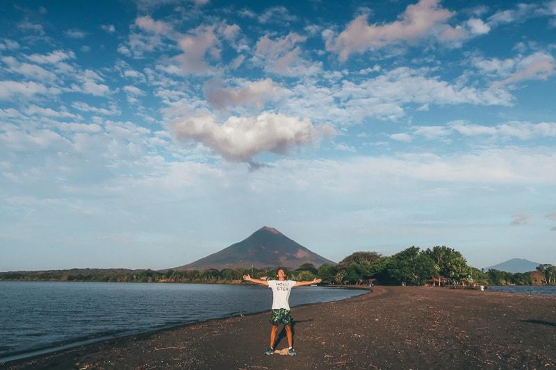 brad at volcano
