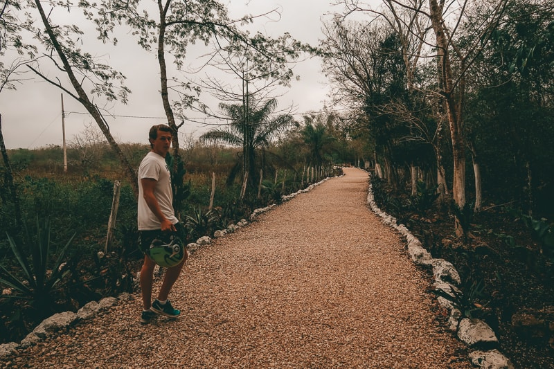 the road to cenote suytun