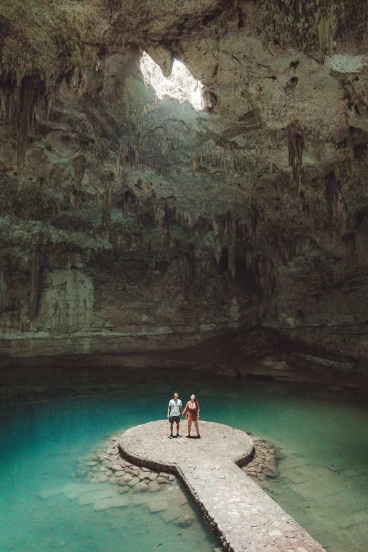 couples at cenote suytun