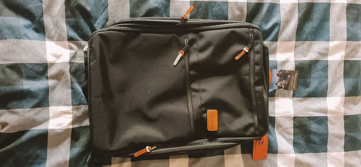 carry-on backpack by standard luggage co