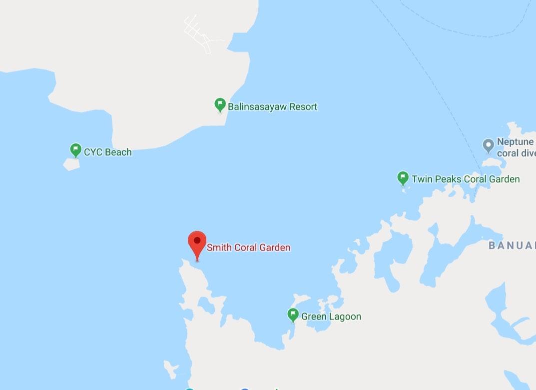map of Coron Island Tour A