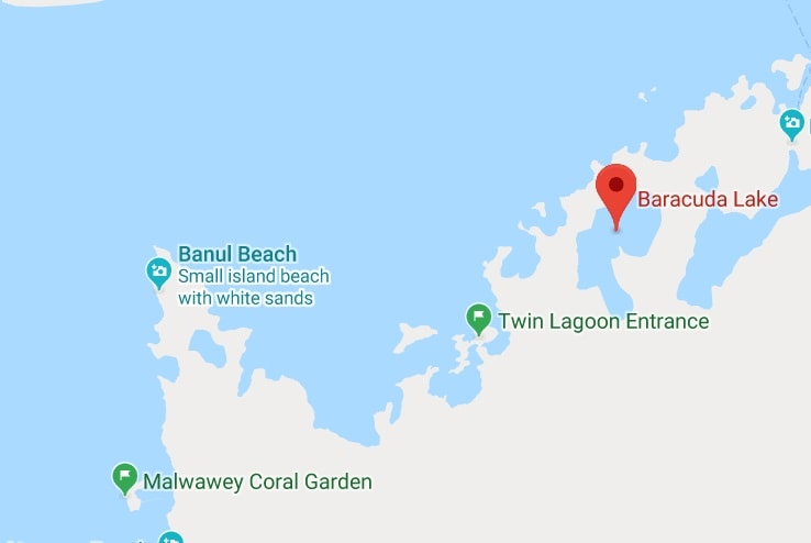 map of Coron Island tour B
