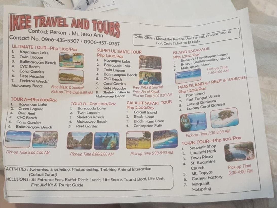 coron island tour outline 1