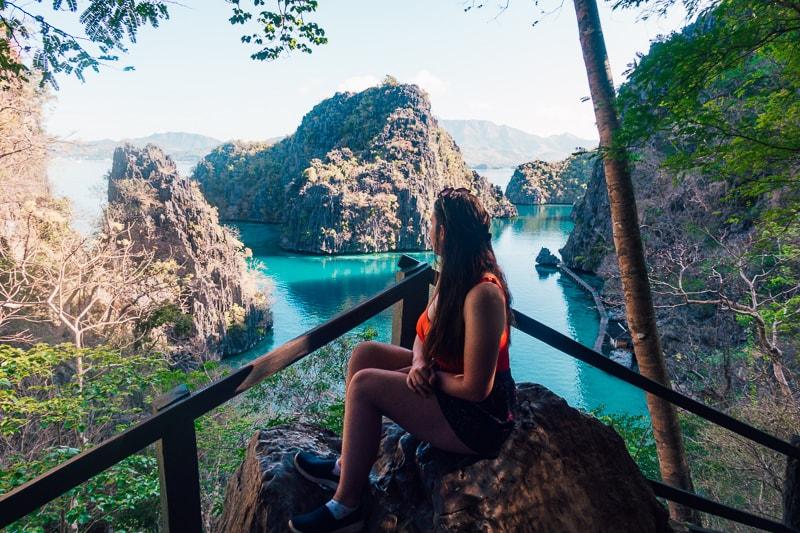 Looking over Kayangan Lake