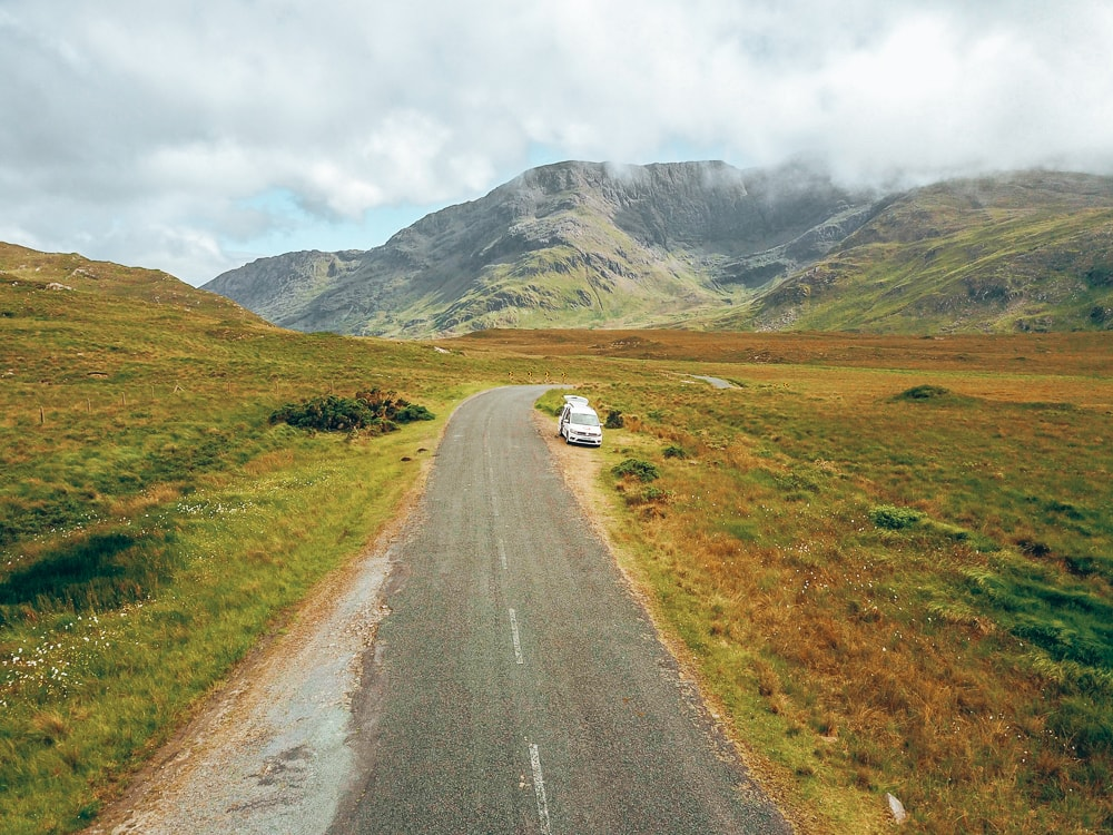 driving campervan in ireland