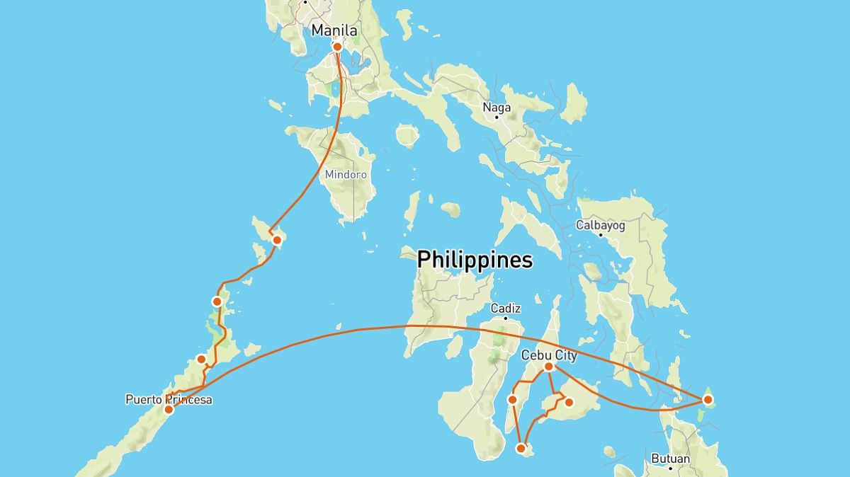 our 4 week Philippines itinerary