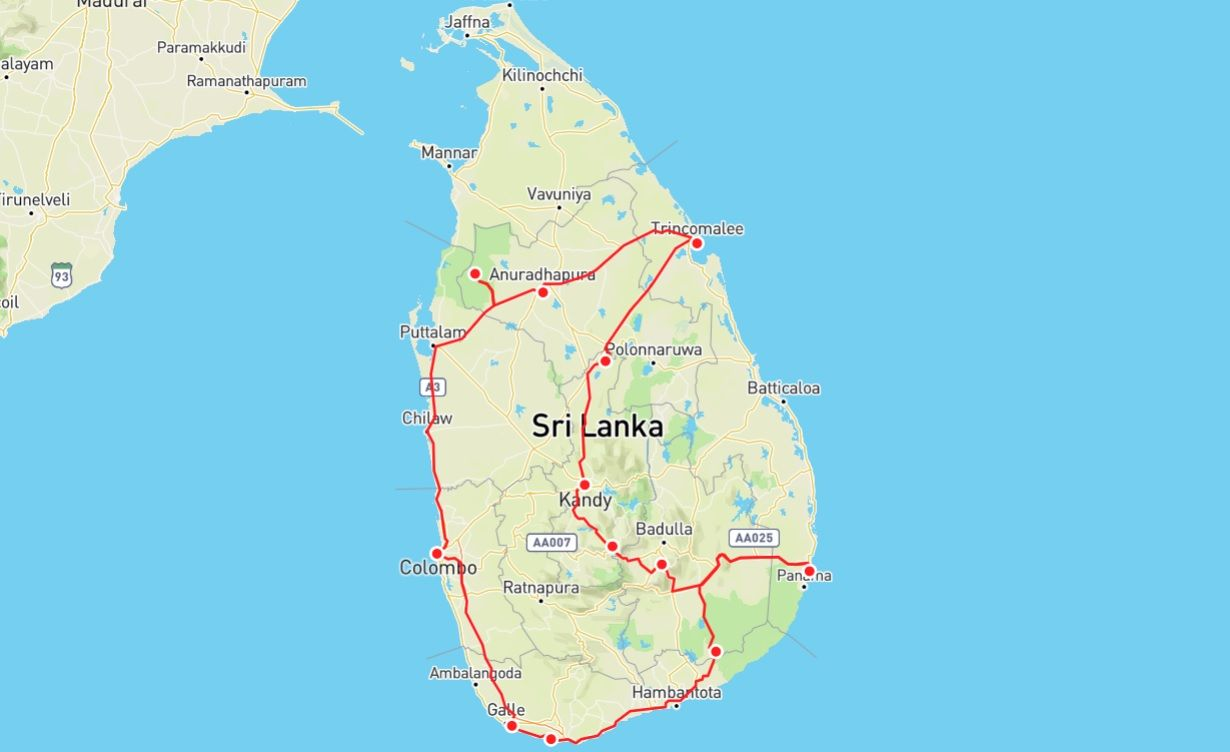 3 weeks sri lanka itinerary