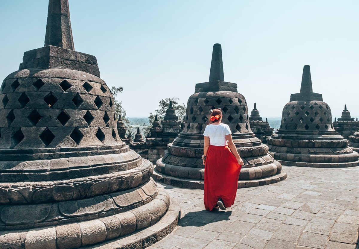 cazzy at Borobudur Temple