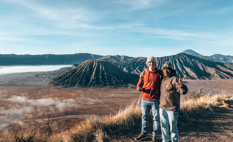 our guide a mount bromo