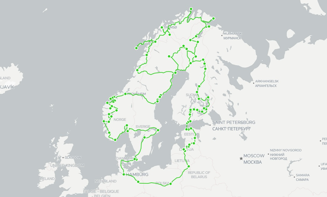 our 3 month scandinavia route plan