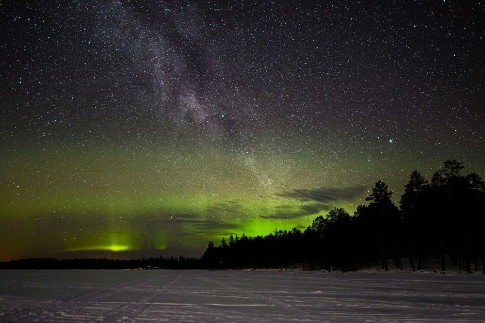 Northern Lights seen on Wilderness Tour