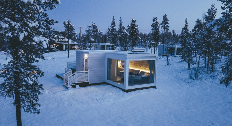 glass igloo hotel