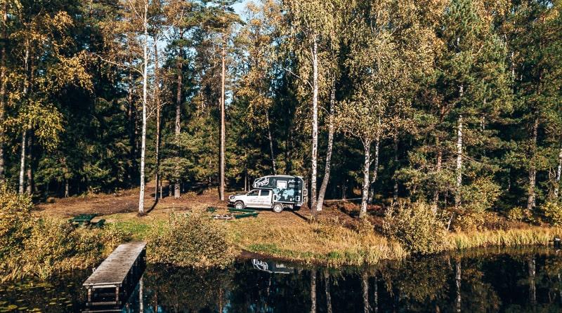 campsite in lativa