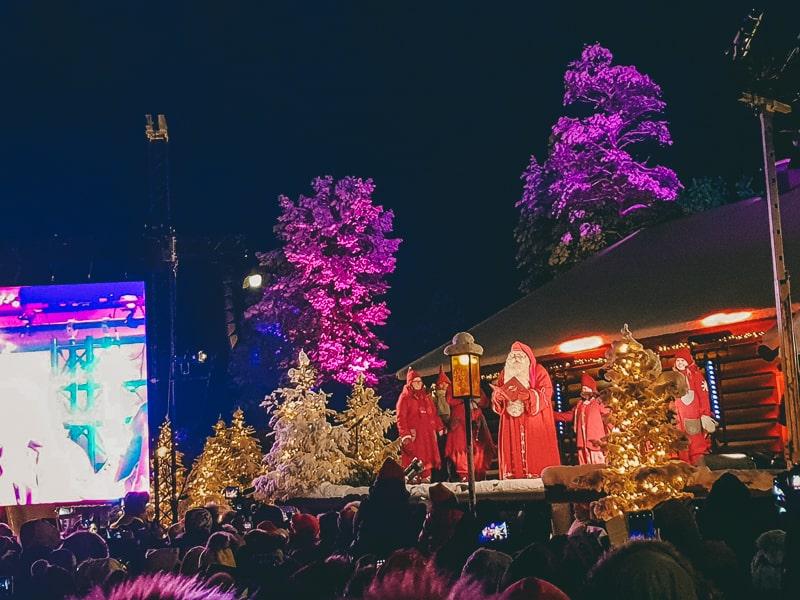 christmas opening ceremony lapland