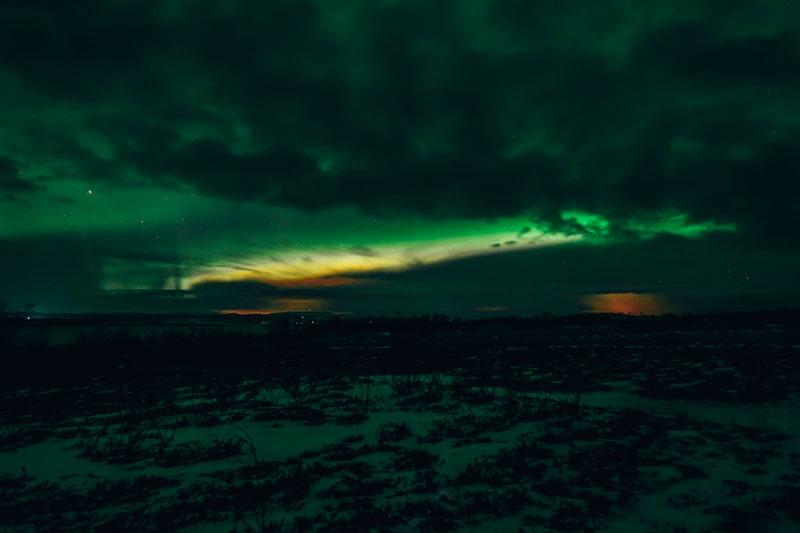 northenr lights in sweden