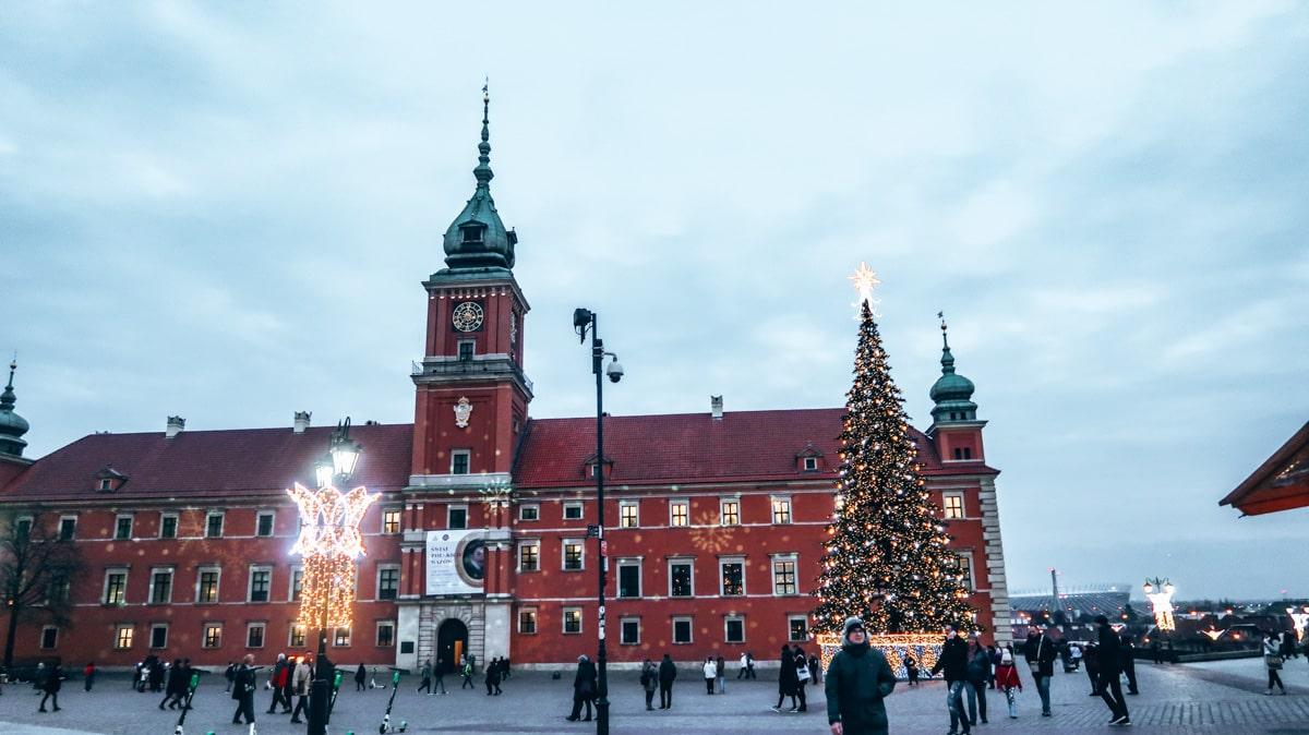 one day in Warsaw Poland