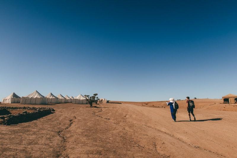 desert camp in agafay