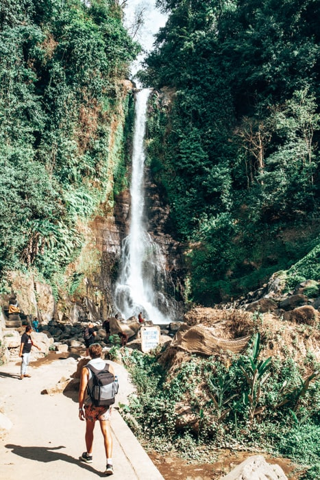 walking to git git waterfall