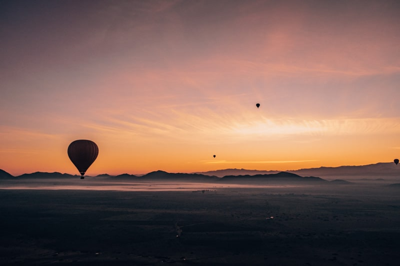 beautiful views from hot air balloon