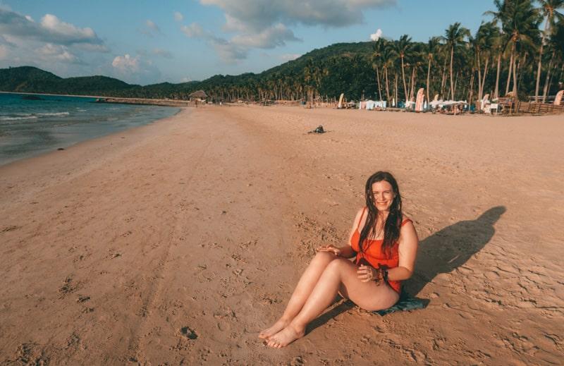 cazzy on nacpan beach el nido