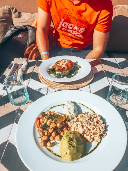 food at nomad cafe in marrakech