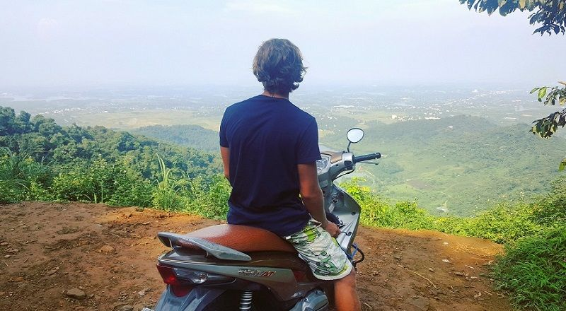 exploring things to do in Pai with moped