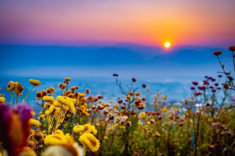 sunrise in Pai, Thailand