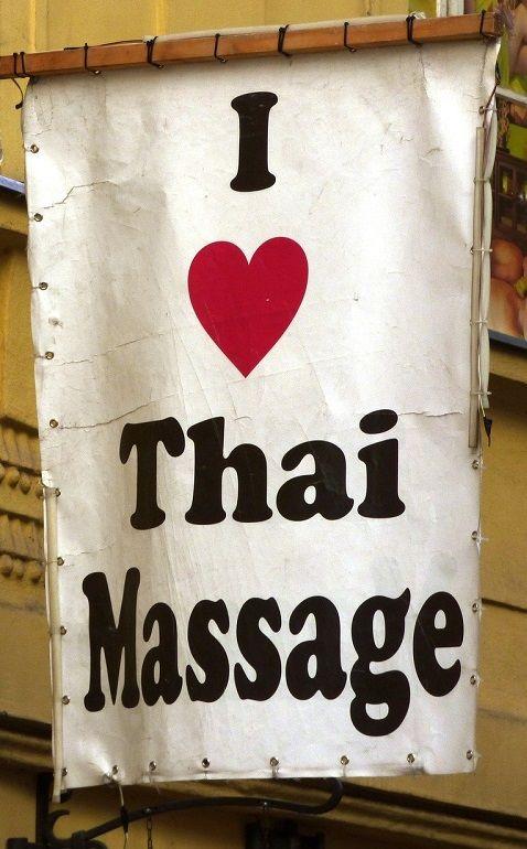 I love Thai massage sign