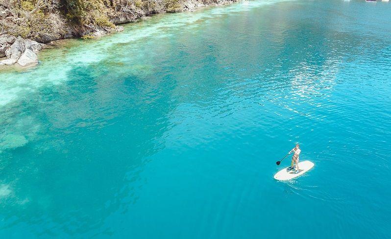 paddleboarding in coron