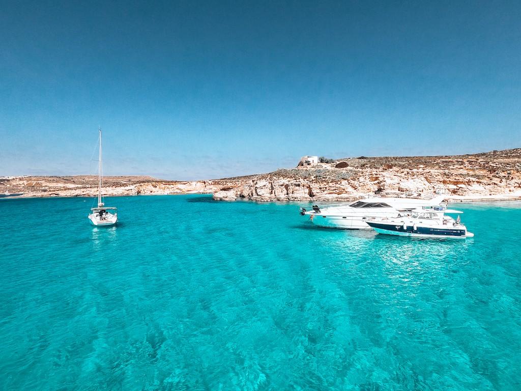 blue lagoon at comino